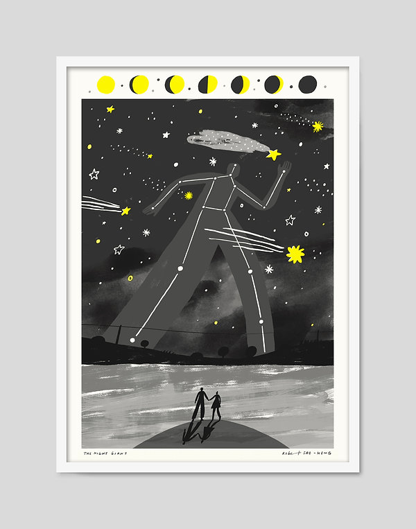 The Night Giant who fell in love with a star print shooting
