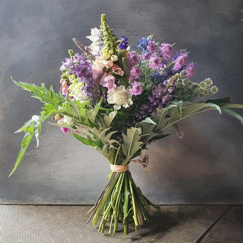 black shed summer hand tied bouquet