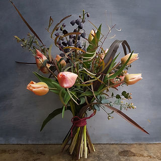 black shed flowers hand tied bouquet