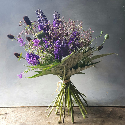 black shed hand tied bouquet