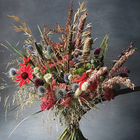 dried and fresh black shed bouquet