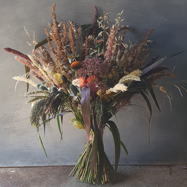 dried ornamental grass black shed bouquet