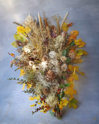 Rustic and wild funeral flowers