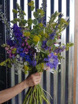 black shed hand tied bouquet helen stickland