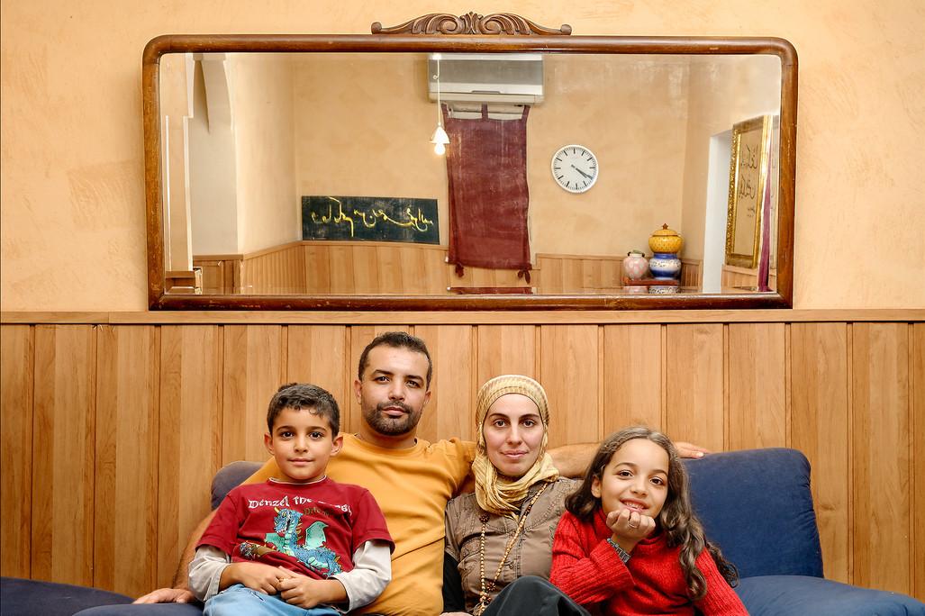 Abdellah, Abdel Jalil, Xantal y Mariam.j