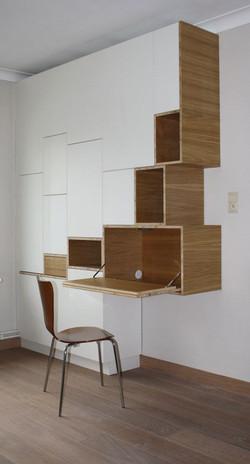 Roupeiro + Home Office - Cód Pin0004