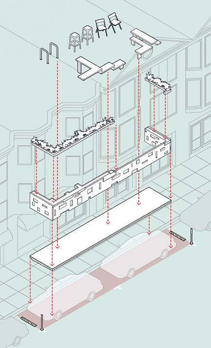 Parklet design diagram