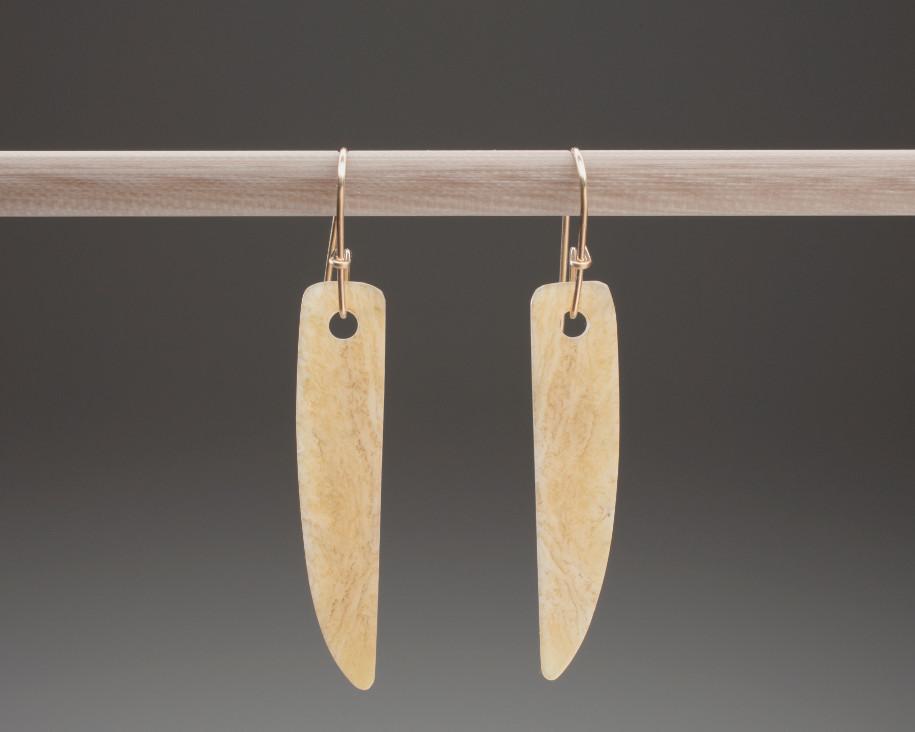 Thin quarter ellipse earrings