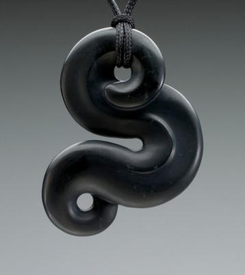 Black Scrolling Dragon