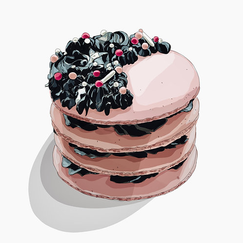 Macaron Cake (Available in 2 sizes)