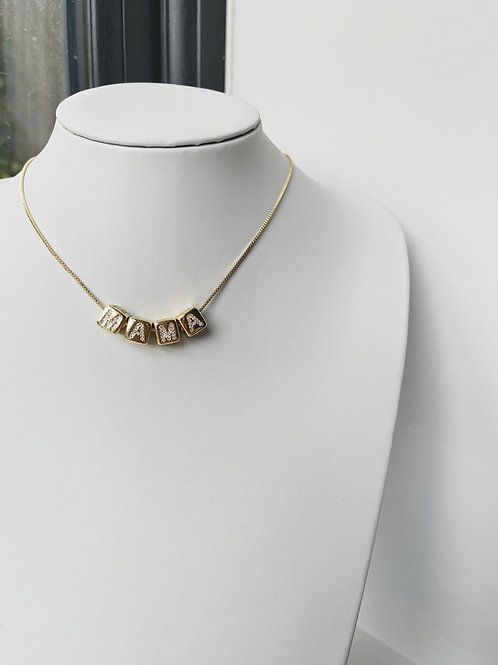 XICO Diamond Cube Personalised Necklace