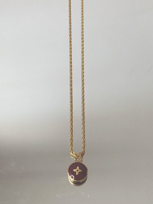 "Authentic Reworked LV Star Pendant on our 18"" Gold Filled Rope Chain"
