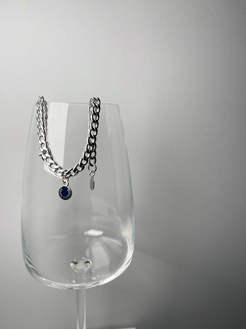 Authentic Reworked LV Silver Bracelet