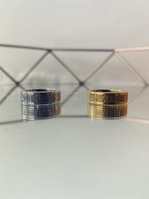 ARLES Roman Numeral Ring
