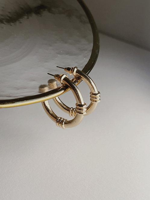 TROPEZ Gold Hoops
