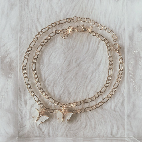 AIRAI White Butterfly Anklet