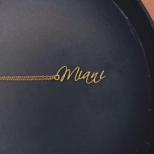 PORTO Personalised Handwritten Necklace