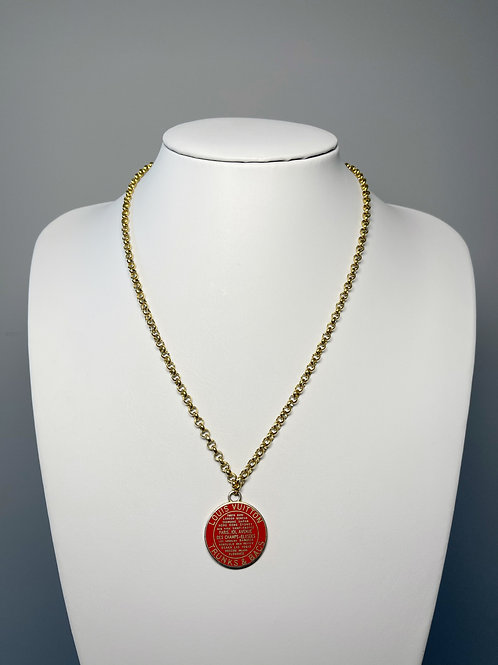 Authentic Reworked Louis Vuitton Gold Necklace