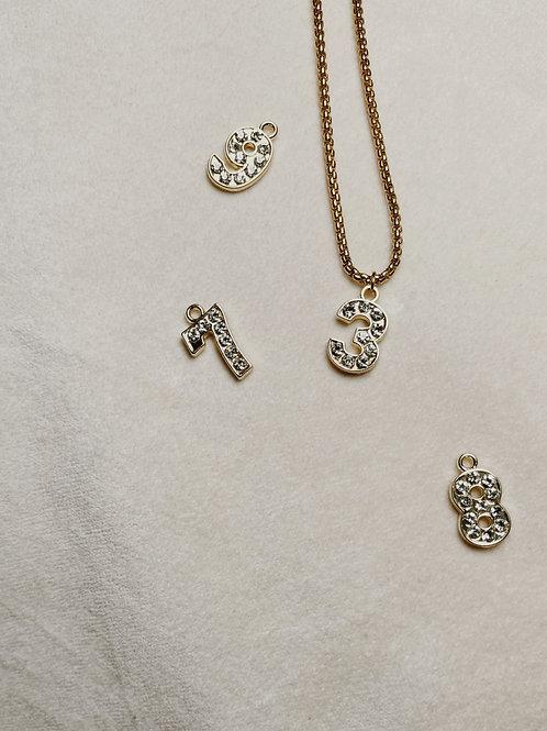 ASINO Diamond Number Necklace