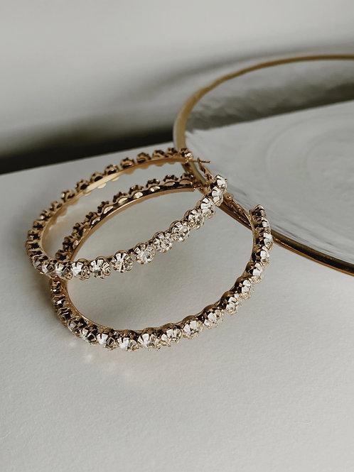 PARIS Chunky Diamond Hoops