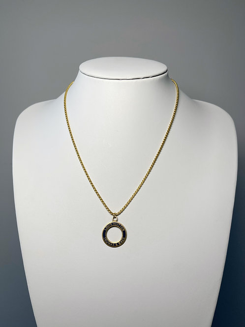 Authentic Reworked Louis Vuitton Necklace