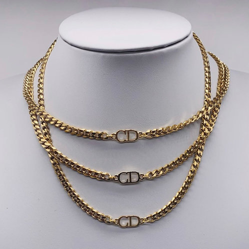 Authentic Gold Reworked Christian Dior Necklace