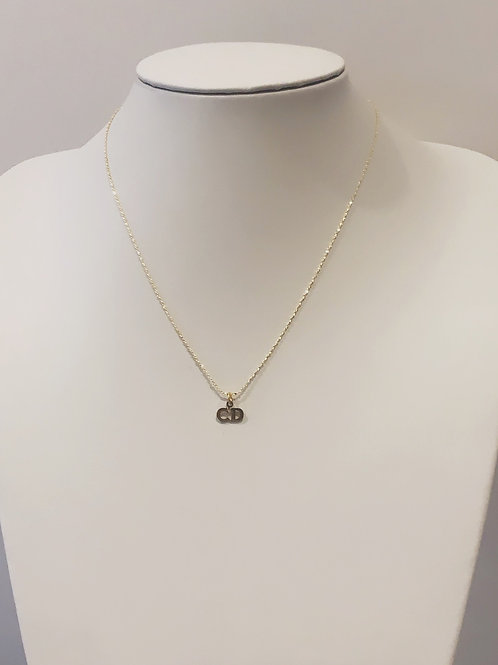 Authentic Gold Reworked Dainty Christian Dior Necklace