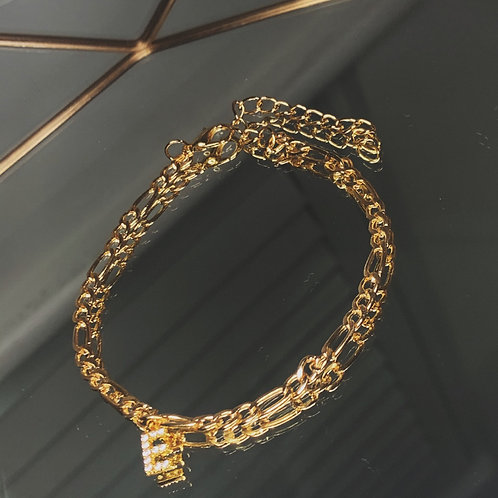 MIAMI Diamond Initial Anklet