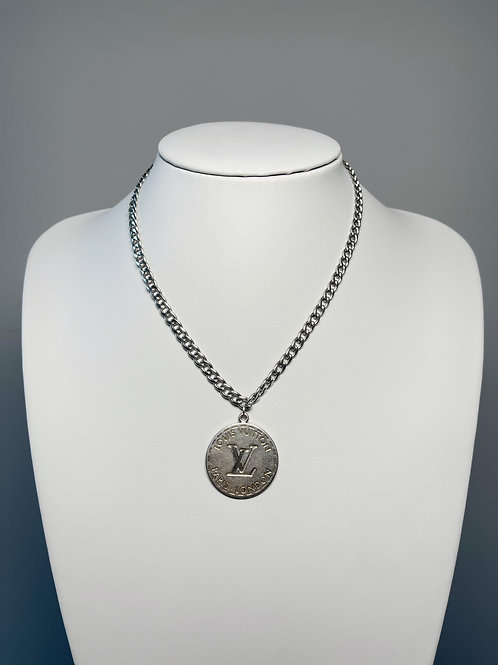 Authentic Reworked Louis Vuitton Silver Necklace