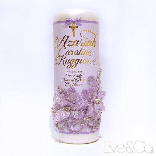 Textural 3D Floral Lace Candle