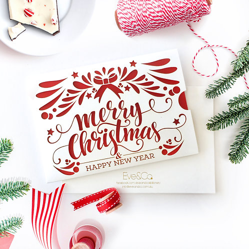 Laser Cut Christmas Photo/Card Sleeves