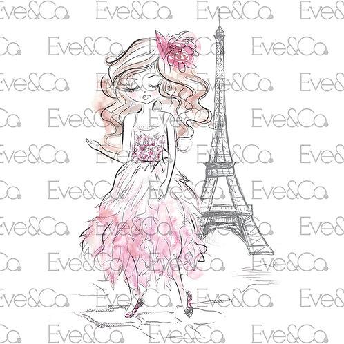 Parisian Princess Illustration
