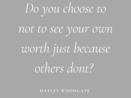 Do you allow others to value your worth?