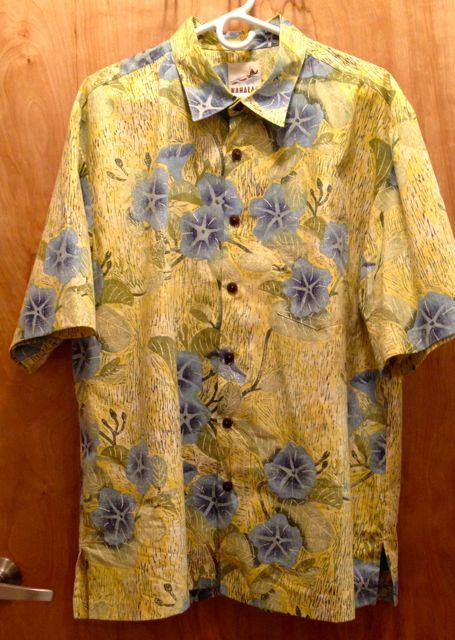 Beach flower shirt yellow.