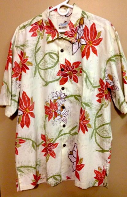 Kahala Poinsettia shirt 2013