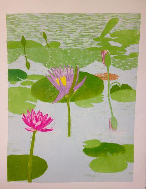Lily reflections progress 6