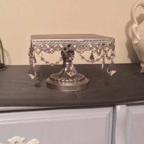 Silver Cake Stand   $5