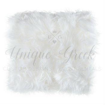 White Faux Fur Throw | $12