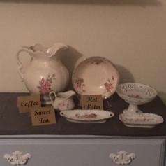 Porcelain Dishware Set   $15