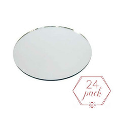 Cirlce Mirror Plate | $24