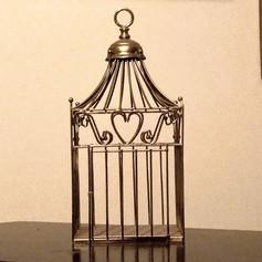 Antique Gold Bird Cage | $2