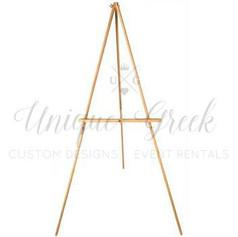 Light Wood Easel | $10