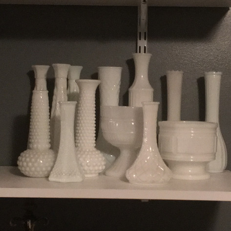 Vintage Milk Glass Set | $24