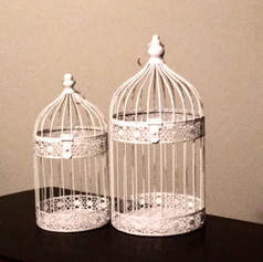 White Bird Cages |  $4