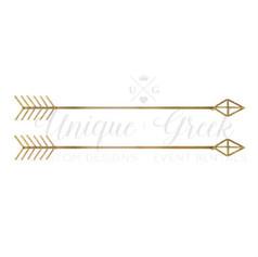 Gold Metal Arrows | $8