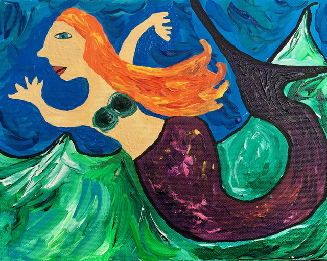 She Glides Through Churning Waters