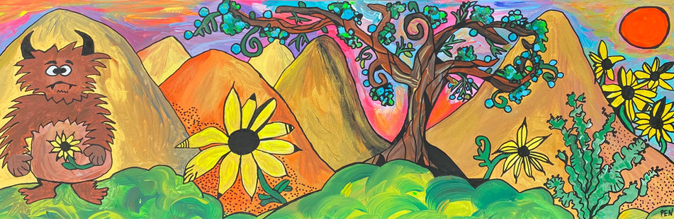 Sasquatch Searches The Burning Hills For His Sunflower Through Juniper and Sage