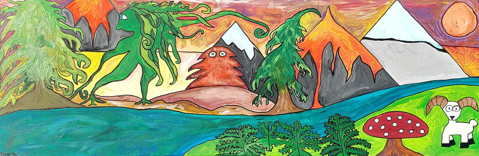 Moss Woman Enters the Volcano Woods