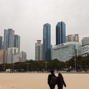 Busan, Haeundae Beach, plage de rêve pour certains