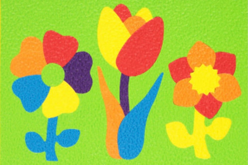Flowers Crepe Rubber Puzzle